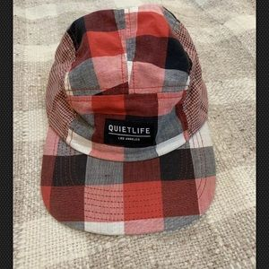 Quiet Life 5-Panel Hat Red Plaid Camper Style